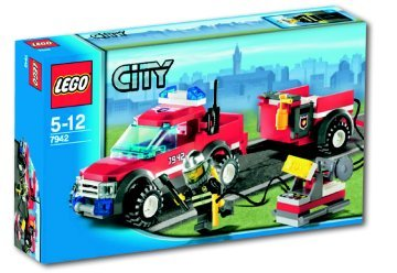 LEGO 7942 City Brandweer pick-up truck
