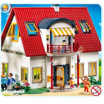 Playmobil moderne villa speelgoed vind je via for Casa moderna de playmobil 123