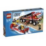 LEGO 7213 City Off-road brandweerwagen en -boot