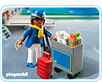 Playmobil 4761 Stewardess met trolley